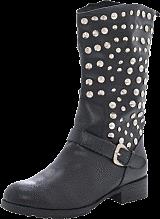 Fashion By C - Long rivet boot Black