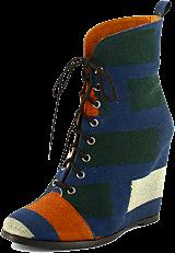 Minimarket - Wedge Boot Ikat Cotton Fabrik Multi