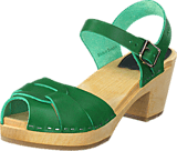 Swedish Hasbeens - Peep Toe High Strong Green