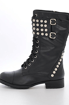 Fashion By C - Rock boot Black