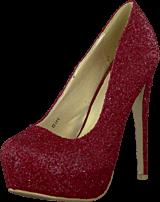 Sugarfree Shoes - Siri Glitter Red glitter