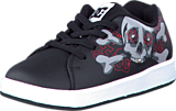 DC Shoes - Toddler Phos Shoe Black/Athletic Red/Black