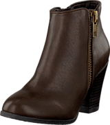 Bianco - Zipper Basic Boot Dark Brown