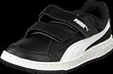 Puma - Puma Rebound V2 Lo Kids Black/White
