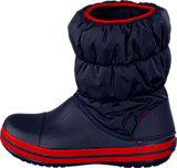 Crocs - Winter Puff Boot Kids Navy-Red