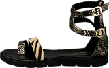 Amust - Kaya sandal Gold/black
