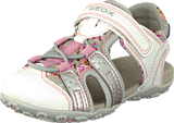 Geox - B Sandal Roxanne Lt Grey/White