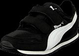 Puma - Cabana Racer Mesh V Kids Black-White