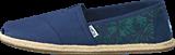 Toms - Seasonal Classics Navy Hibiscus Canvas