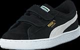 Puma - Suede 2 straps Kids Black-White