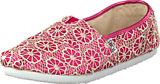 Toms - Seasonal classic youth Pink crochet glitter