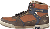 Mustang - 4064503 Men's High Top Sneaker Hazel