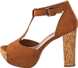 Bianco - T-bar sandal DJF 16 Light Brown