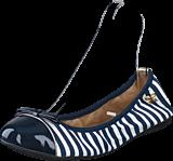 Butterfly Twists - Cara Navy / White Stripe