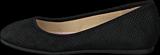 Bianco - Suede Snake Ballerina Black