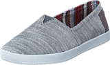 Toms - Avlon Slip-On Grey Textured Woven
