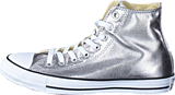 Converse - All Star Metallics-Hi Gunmetal/White/Black