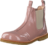 Angulus - Chelsea boot w stitched detail Patent powder/Beige