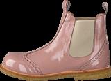 Angulus - Chelsea boot w stitched detail Patent powder/Beige