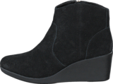 Crocs - Leigh Suede Wedge Bootie Black
