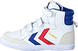 Hummel - Hummel stadil JR high White/Blue/Red/Gum