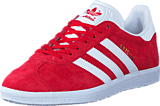 adidas Originals - Gazelle Scarlet/White/Gold Met