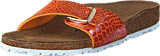 Birkenstock - Madrid Slim Birko-flor Shiny Snake Orange
