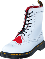 Dr Martens - Bentley Heart White/Red