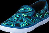 Quiksilver - Shorebreak Slip-On Blue/Green/White