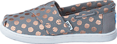 Toms - Infant Drizzle Grey/Rose Gold Foil