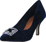 Bianco - Velvet Brooch Shoe OND17 30 Navy Blue