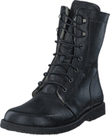 Angulus - Lace-up boot w. zipper Black