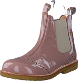 Angulus - Chelsea boot stitched detail J 1387/010 Patent powder/Beige