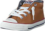 Converse - All Star Street Ltr Fleece Mid Raw Sugar/Terra Red/Navy