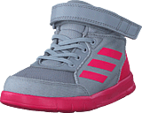 adidas Sport Performance - Altasport Mid El I Grey Two F17/Real Pink S18/Wht