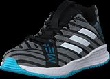 adidas Sport Performance - Rapidaturf Messi K Core Black/Ftwr Wht/Super Cyan