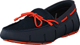 Swims - Braided Lace Loafer Navy/orange