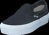 Vans - UA Classic Slip-On Platform (Embossed) Black/ White