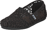 Toms - Alpargata Black Lace Leaves