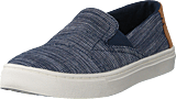 Toms - Luca Youth Navy Striped Chambray