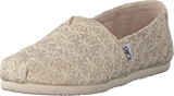 Toms - Alpargata Youth Natural Daisy Metallic