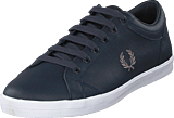 Fred Perry - Baseline Leather Navy / Falcon Grey