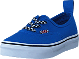 Vans - Uy Authentic Elastic Lace Check Lace Blue/twhite