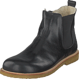 Angulus - Boot With Wool Lining Elastzip Black